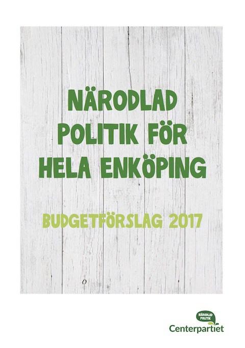 Budget 2017 – Närodlad politik för hela Enköping